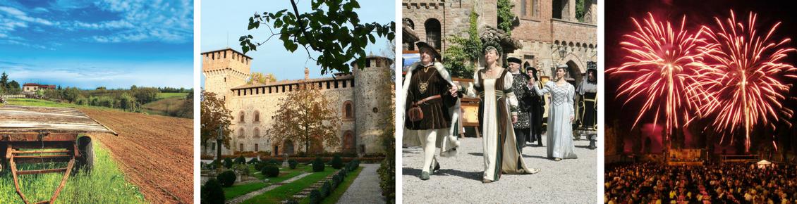 Paesaggio di Vigolzone, Castello di Grazzano Visconti, Corteo medievale, Fuochi d'artificio